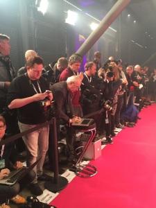 Abkleben für Journalisten am Roten Teppich