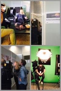 TV-Interviews mit ECHO-Moderatorin Barbara Schöneberger, Backstage-Impressionen