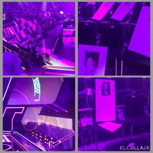 ECHO-Halle und -Bühne während Aufbau und Proben
