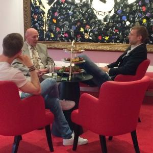 Weltmeister im Vorgespräch Mertesacker Eckel PRleben Verena Bender